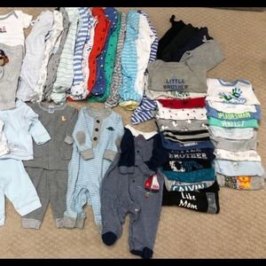 HUGE Lot of Baby Boy Clothes, Sz 3-6 Months